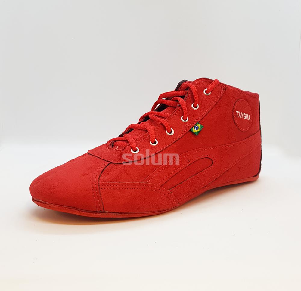Tênis Botinha Camurça (vermelho)