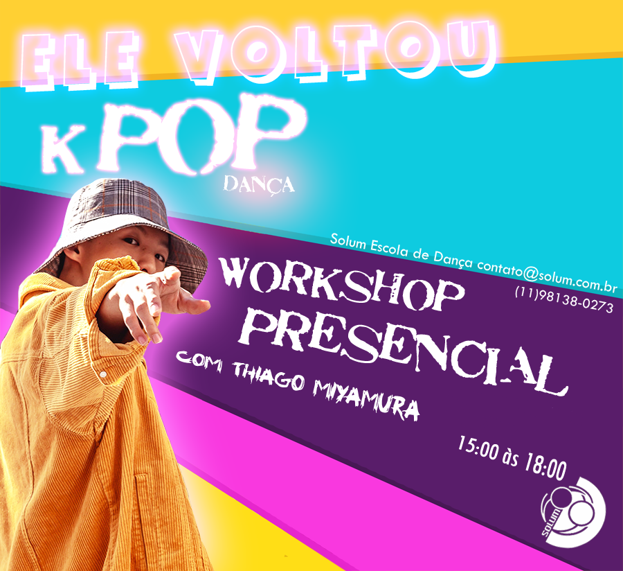 K-POP iniciantes MÓDULOS 1,2,3 (15/11, 22/11, 29/11) valor hoje: