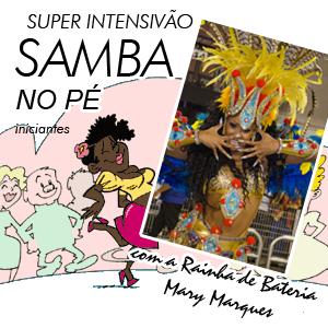 APRENDA SAMBA NO PÉ P/ MULHERES - INICIANTES MÓDULOS 1,2,3 (18/04, 25/04, 02/05) valor hoje: